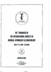 MEDICAL HYDROLOGY & CLIMATOLOGY