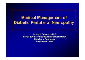 Medical Management of Diabetic Peripheral Neuropathy