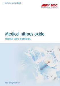 Medical nitrous oxide