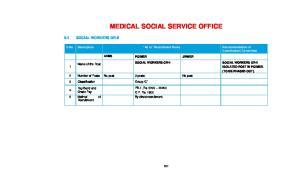 MEDICAL SOCIAL SERVICE OFFICE