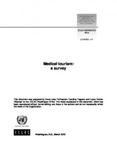 Medical tourism: a survey