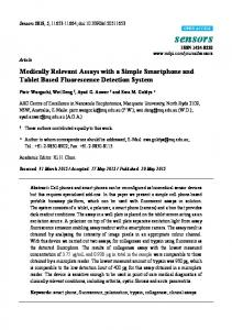 Medically Relevant Assays with a Simple Smartphone and Tablet Based Fluorescence Detection System