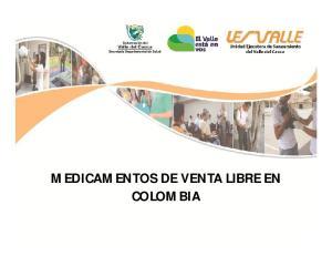 MEDICAMENTOS DE VENTA LIBRE EN COLOMBIA