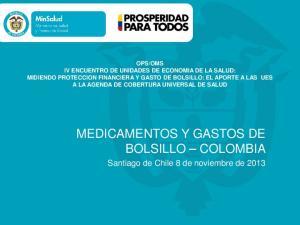MEDICAMENTOS Y GASTOS DE BOLSILLO COLOMBIA