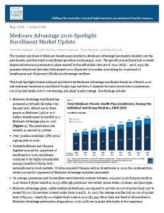 Medicare Advantage 2016 Spotlight: Enrollment Market Update