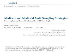 Medicare and Medicaid Audit Sampling Strategies