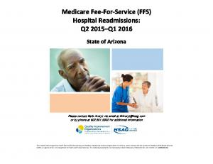 Medicare Fee-For-Service (FFS) Hospital Readmissions: Q Q1 2016
