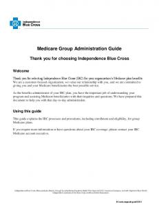 Medicare Group Administration Guide