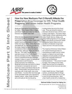 Medicare Part D Info Sheet