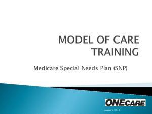 Medicare Special Needs Plan (SNP)