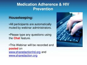 Medication Adherence & HIV Prevention