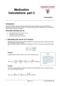 Medication Calculations- part 2