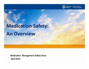 Medication Safety: An Overview