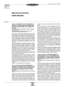 MEDICINA DEL DEPORTE SPORT MEDICINE
