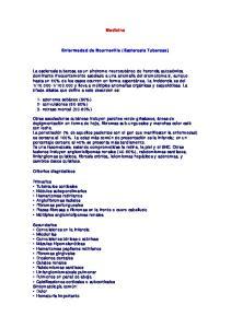 Medicina. Enfermedad de Bourneville (Esclerosis Tuberosa)