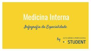 Medicina Interna. Infografia da Especialidade