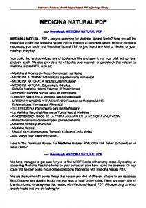 MEDICINA NATURAL PDF