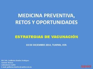 MEDICINA PREVENTIVA, RETOS Y OPORTUNIDADES
