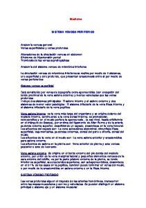 Medicina SISTEMA VENOSO PERIFERICO