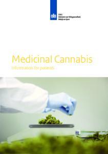 Medicinal Cannabis. Information for patients