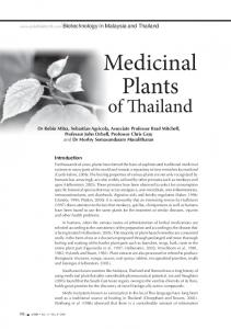 Medicinal Plants. of Thailand