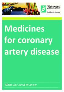 Medicines for coronary artery disease