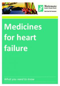 Medicines for heart failure