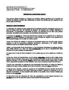 MEDICION DE CANTIDADES FISICAS