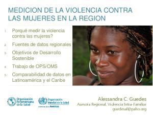 MEDICION DE LA VIOLENCIA CONTRA LAS MUJERES EN LA REGION