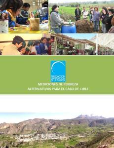 MEDICIONES DE POBREZA ALTERNATIVAS PARA EL CASO DE CHILE