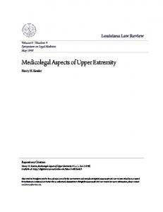 Medicolegal Aspects of Upper Extremity