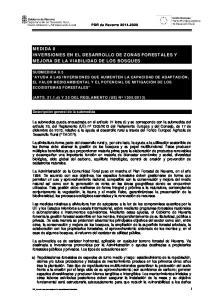 MEDIDA 8 INVERSIONES EN EL DESARROLLO DE ZONAS FORESTALES Y MEJORA DE LA VIABILIDAD DE LOS BOSQUES