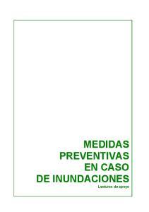 MEDIDAS PREVENTIVAS EN CASO DE INUNDACIONES Lecturas de apoyo