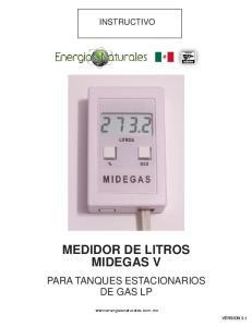 MEDIDOR DE LITROS MIDEGAS V