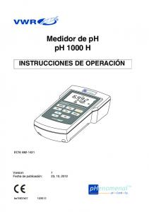 Medidor de ph ph 1000 H