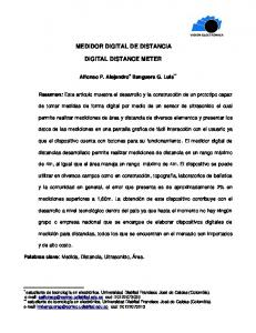 MEDIDOR DIGITAL DE DISTANCIA DIGITAL DISTANCE METER