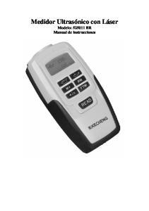 Medidor Ultrasónico con Láser Modelo: BR Manual de instrucciones