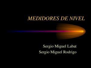 MEDIDORES DE NIVEL. Sergio Miguel Labat Sergio Miguel Rodrigo