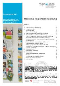 Medien & Regionalentwicklung