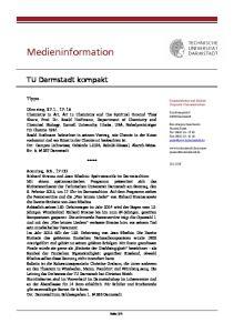 Medieninformation. TU Darmstadt kompakt. Tipps