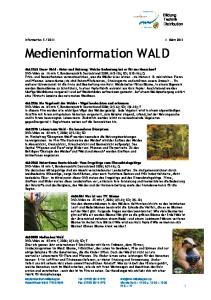 Medieninformation WALD