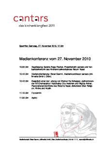 Medienkonferenz vom 27. November 2010
