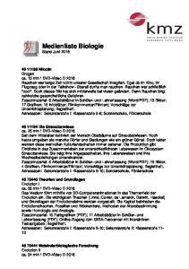 Medienliste Biologie Stand Juni 2016