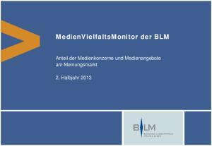 MedienVielfaltsMonitor der BLM