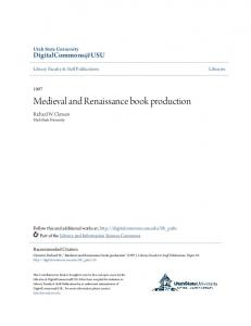 Medieval and Renaissance book production