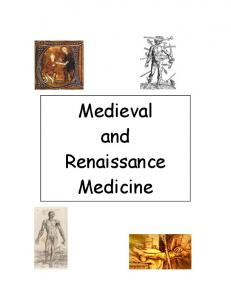 Medieval and Renaissance Medicine