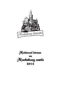 Medieval dinner on Marksburg castle 2015