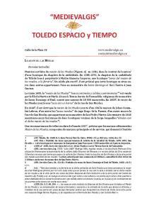 MEDIEVALGIS. TOLEDO ESPACIO y TIEMPO
