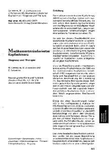 Medikarnenteninduzierter. Kopfschmerz. Diagnose und Therapie. Einleitung