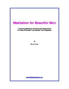 Meditation for Beautiful Skin
